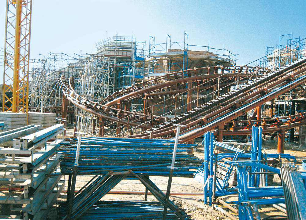 Gardaland Tribe History Building Park Costruzione Mammut 60